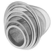 Colador de Infusor de té de malla de acero inoxidable reutilizable, filtro de especias de hoja de té, tetera, accesorios de cocina de 5-9,5 CM de diámetro