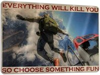 skydiving those who dont jump will never fly horizontal poster vintage tin sign wall retro metal bar pub poster