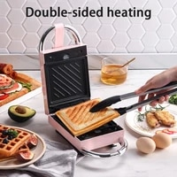 electric sandwich maker multi function breakfast maker household waffle maker replaceable non stick bakeware pressure toaster