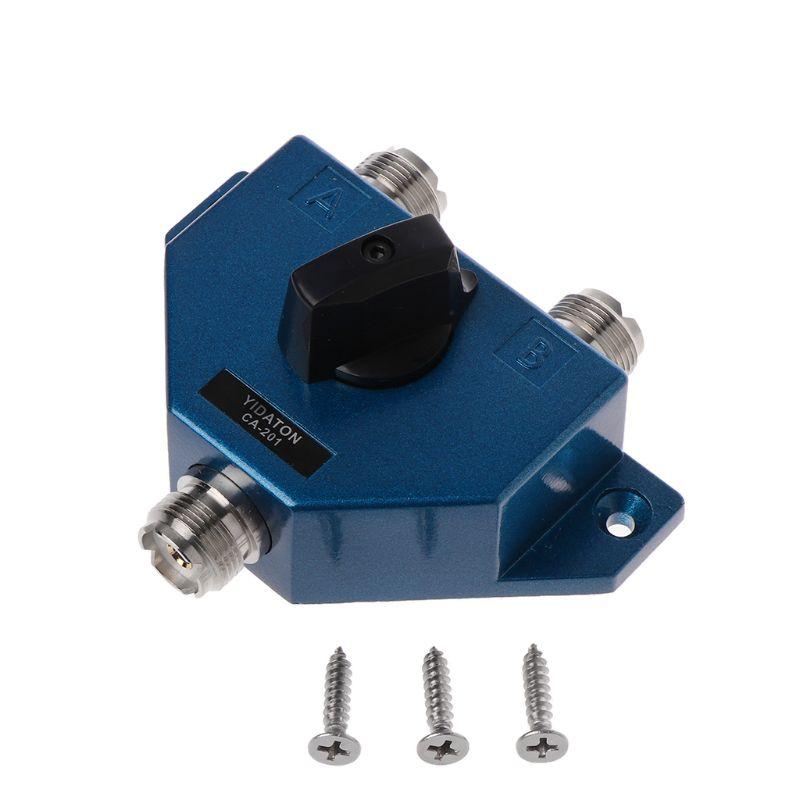 CA-201 Антенный переключатель UHF ручной антенный Женский Разъем адаптер конвертер CB радио антенный коаксиальный переключатель B95C