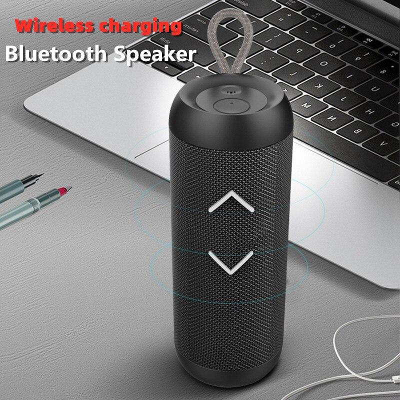 Subwoofer altavoz inalámbrico portátil con Bluetooth TWS, barra de sonido estéreo 3D IPX6, columna de graves fuertes a prueba de agua, altavoz para exteriores