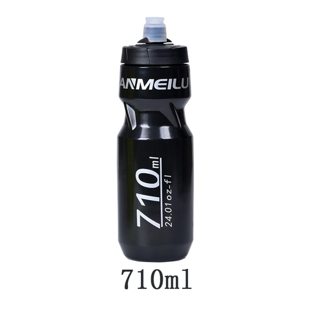 610/710ML Portable Squeeze Cycling Water Bottle BPA Free Leak-proof Adjustable Bicycle Kettle