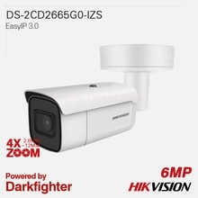Hikvision caméra IP dorigine DS-2CD2665G0-IZS EasyIP 3.0 4X ZOOM 6MP H.265 + EXIR VF balle tout métal IP67 IK10 120dB WDR