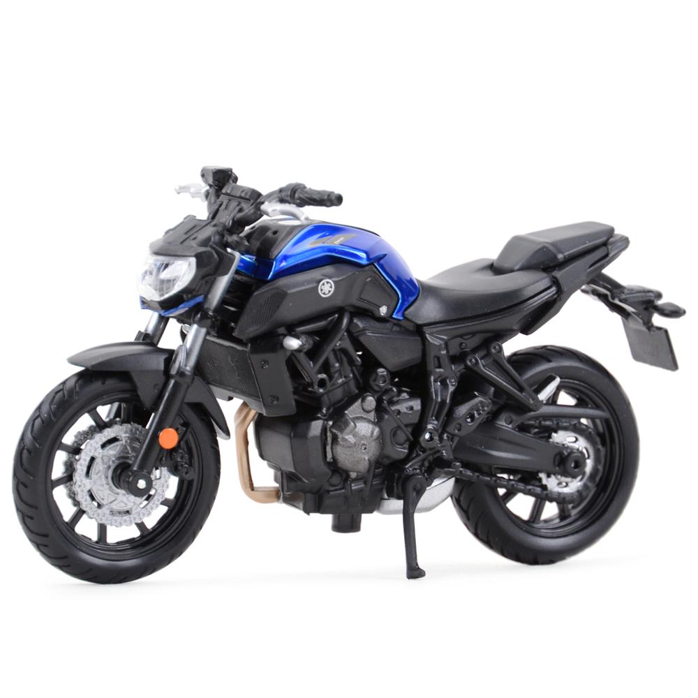 Maisto 1:18 2018 Yamaha MT07 Static Die Cast Vehicles Collectible Hobbies Motorcycle Model Toys