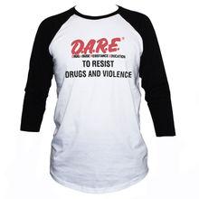 Camiseta Atrévete a resistir-Camiseta Anti-Violencia/ camiseta Retro de manga 3/4 para hombres y mujeres