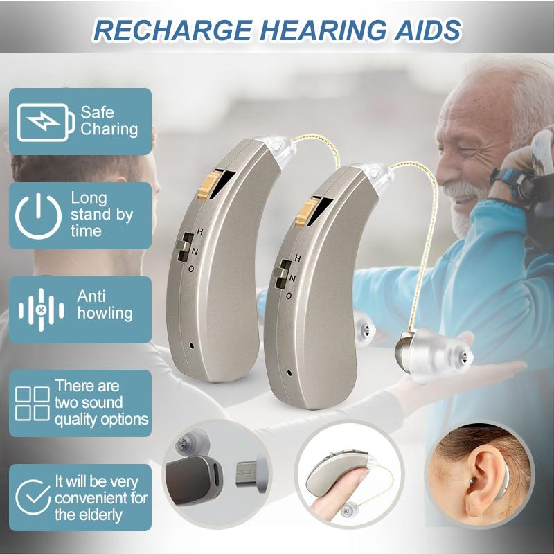 أفضل مساعدات للسمع القابلة لإعادة الشحن جهاز سمونوس الأذن مكبرات الصوت اللاسلكية لكبار السن فقدان معتدل إلى حاد انخفاض الشحن