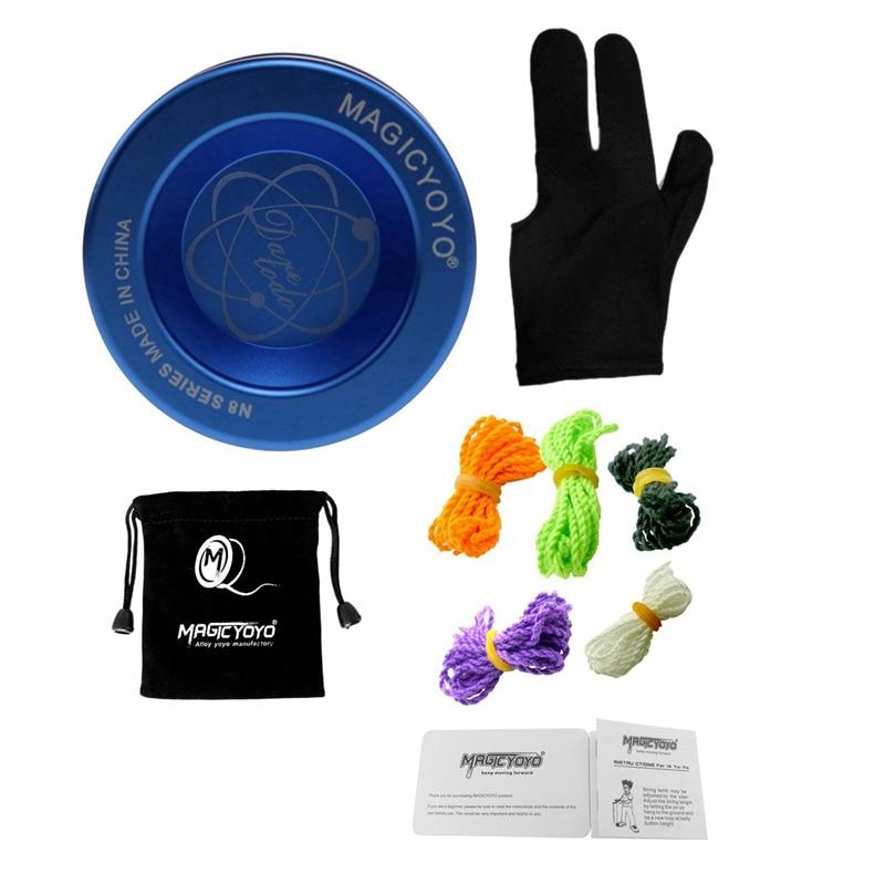 MAGICYOYO N8 Unresponsive Yoyo Alloy Aluminum Yo Yo + 5 Strings + Glove+Yoyo Bag