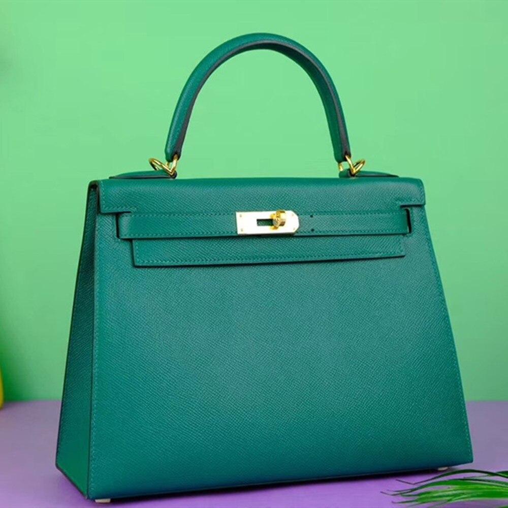 Handmade Designer Bags Famous Brand Women 2020 Luxury Handbags Woman Genuine Leather Runway Female Europe Top Quality 079