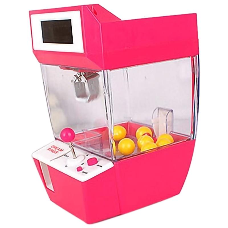 Muñeca garra máquina Mini Slot juego máquina expendedora de dulces grabador de escritorio Arcade captura divertido música Juguetes Divertidos Gadgets niños