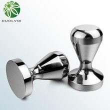 Duolvqi prático café pressão em pó barra de aço inoxidável café em pó martelo do café do agregado familiar gadget 49/51mm