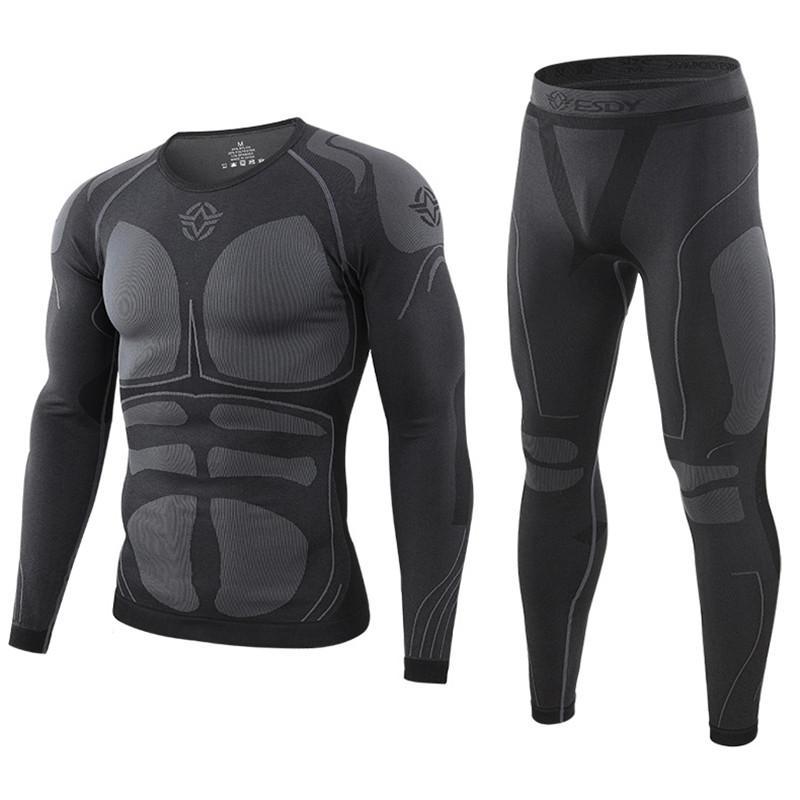 Зимнее мужское высококачественное термобелье, комплект мужского нижнего белья, удобное дышащее Спортивное нижнее белье для дома и улицы