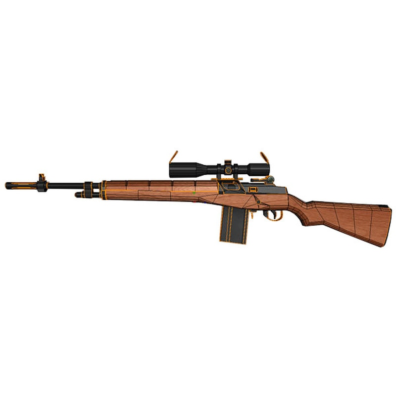 11 M14 pistola de papel modelo DIY 3D Tarjeta de papel modelo Construcción Juegos Juguetes Educativos modelo militar