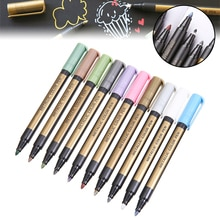 1Pc Metallic Paint Marker Pens Metallic Sheen Glitter Calligraphy Arts DIY 12 Colors Optional For Paper Cardstock Rock Mayitr