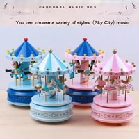 carousel music sailor moon clockwork music box howls moving castle living room decoration birthday valentines day gift
