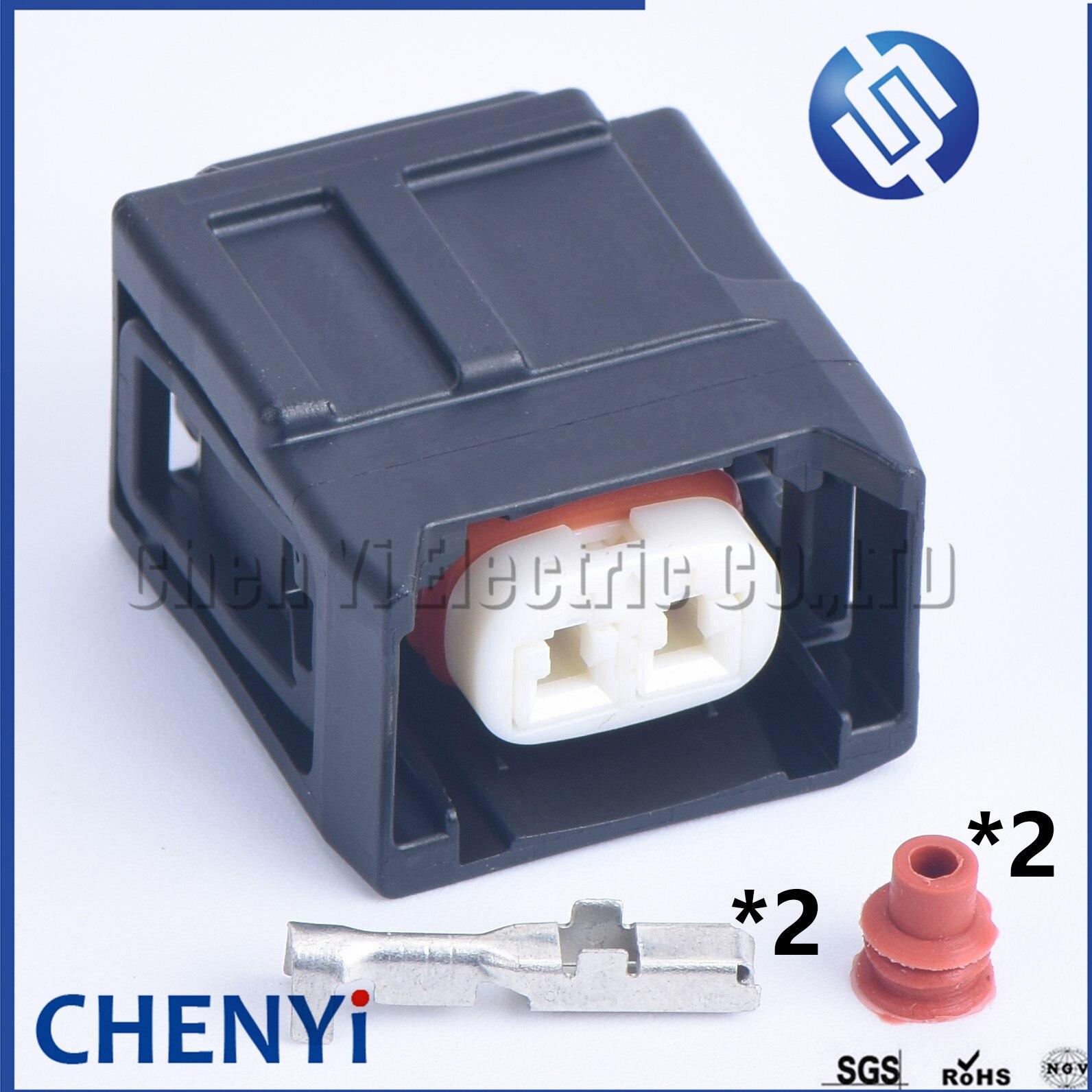1 conjunto 2 pinos fêmea toyota hilux revo gun126 1gd 2.8l, conector 7120-9100-60 do soquete do bocal do injetor de combustível de toyota fortuner 2gd 2.4l