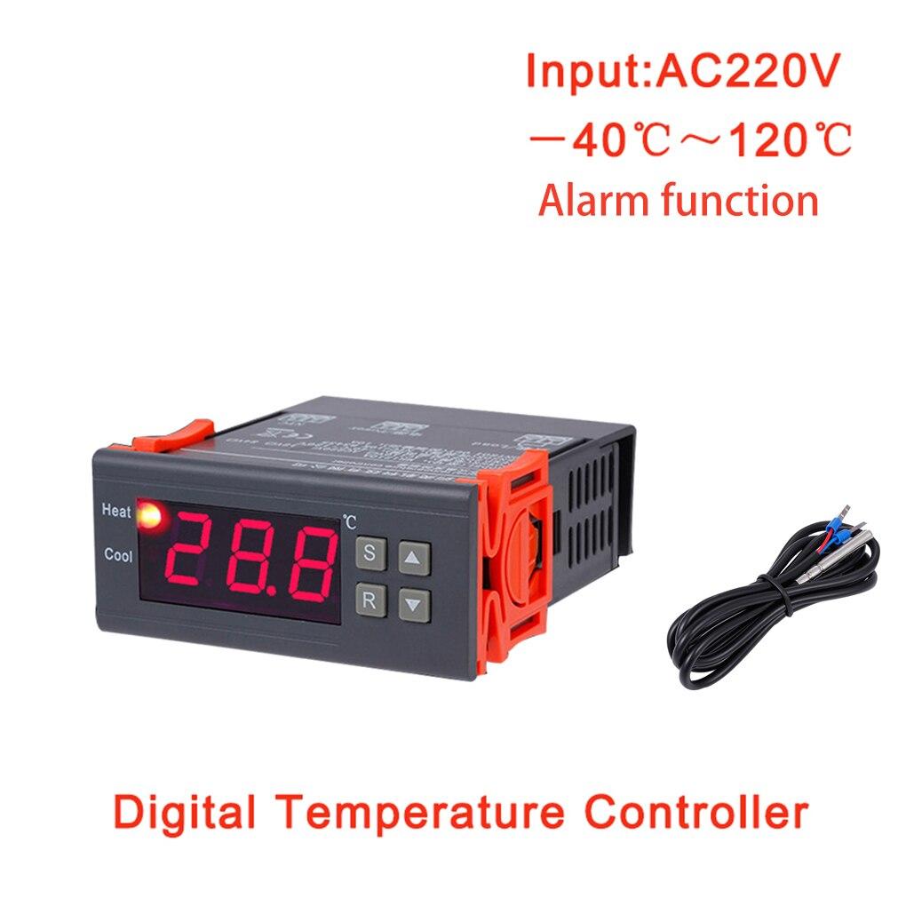 Controlador de temperatura Digital termostato termorregulador relé de incubadora LED 10A enfriamiento de calefacción MH1210B AC220V