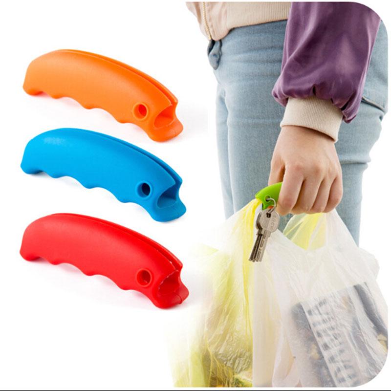Bolsa de plástico con asa de silicona fuerte para compras bolsas de plástico bolsas de basura yu-home