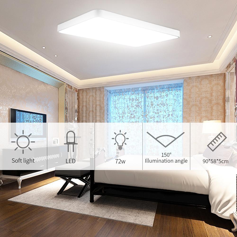 72 واط LED ضوء السقف رقيقة جدا داخلي أسفل أضواء للحمام المطبخ المعيشة ساحة الإضاءة USA الاتحاد الأوروبي المحلي شحن سريع