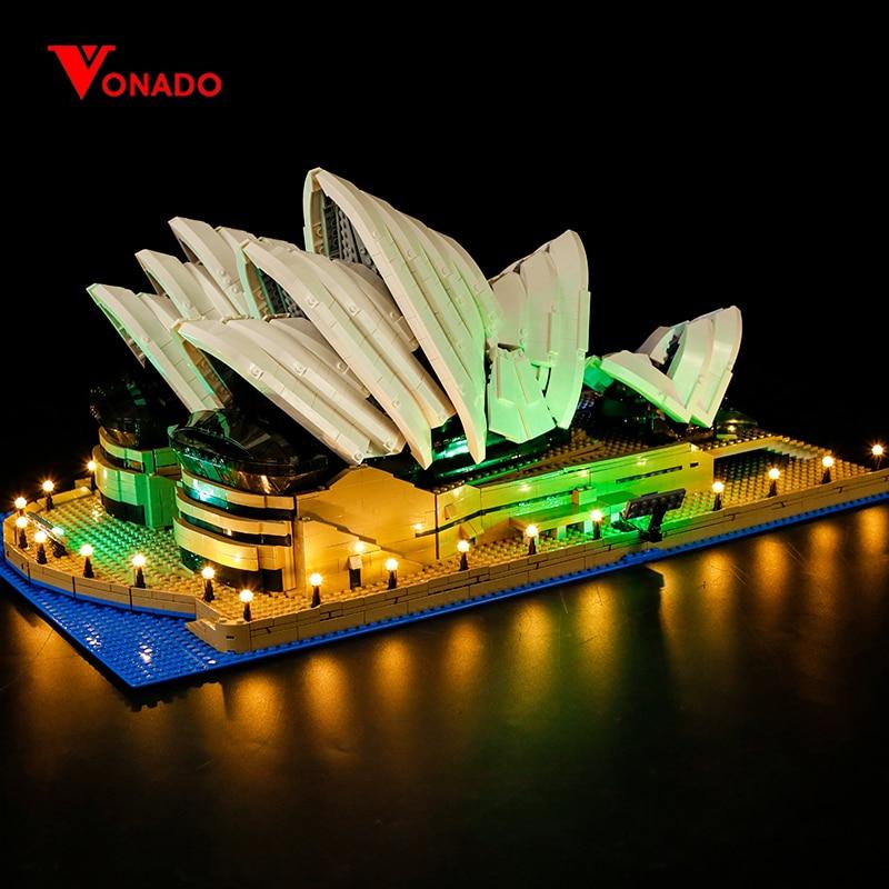 Kit de iluminación LED Compatible con lego 10234 17003 Series de la ciudad Sydney ópera construcción de casa ladrillos (solo luz con batería caja)