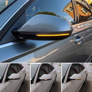 For Audi A6 C7 C7.5 RS6 S6 4G 2 pieces Car Side Wing Rearview Mirror Blinker Indicator 2012-2018 LED Dynamic Turn Signal Light