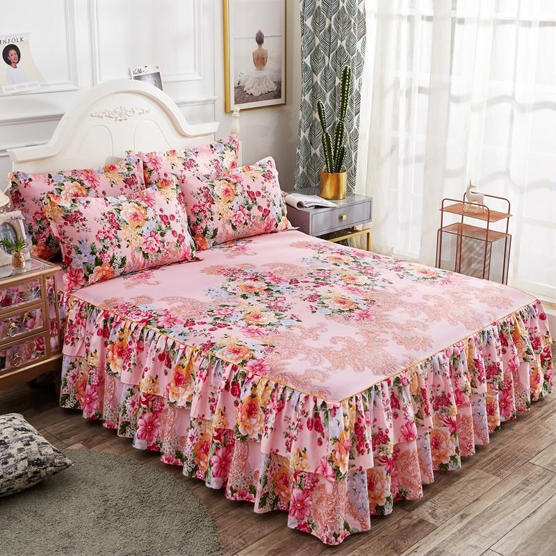 3 uds cama 1 Uds edredón + 2 funda de almohada colchas solo doble reina rey tamaño princesa plana hoja 150*200/200*220cm