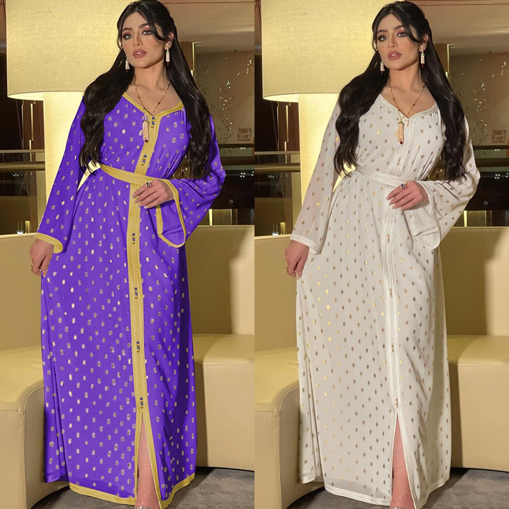 MD Musulman افرقة عباية دبي 2021 تركيا مسلم موضة النساء أنيقة قفطان رداء الملابس الإسلامية حجم كبير فستان سهرة
