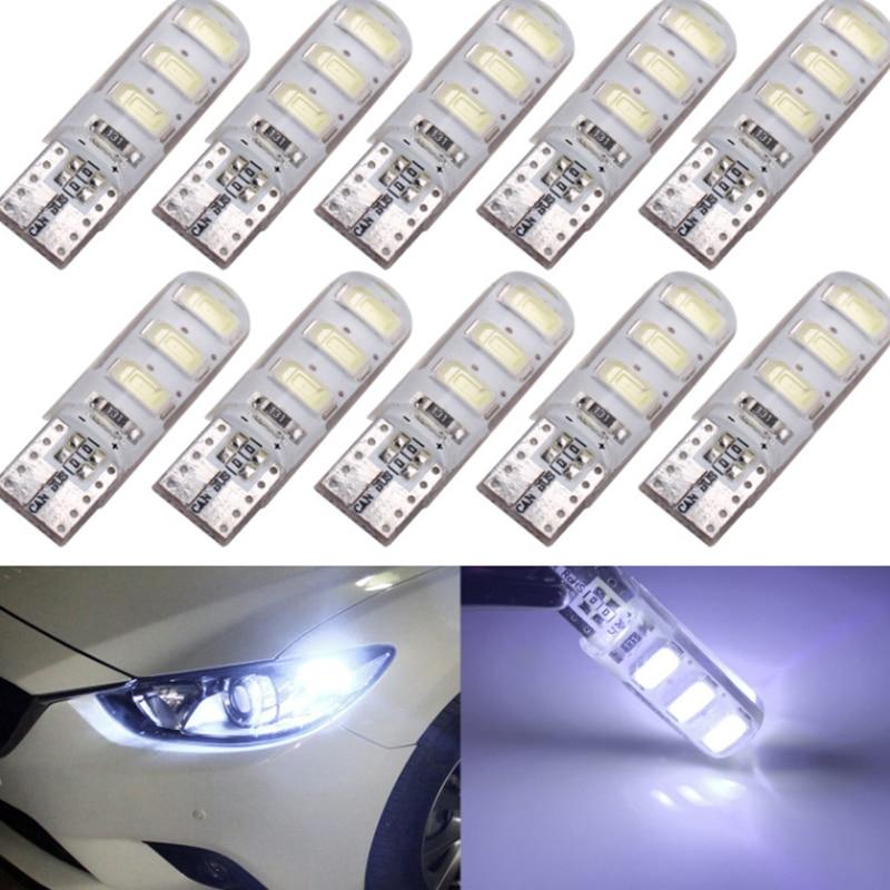 20x T10 W5W 192 5630 Led-leuchten Silica Gel Wasserdicht Keil Licht 5730 Silikon Auto Parkplatz Licht Auto-Clearance Birne 12V Lampe