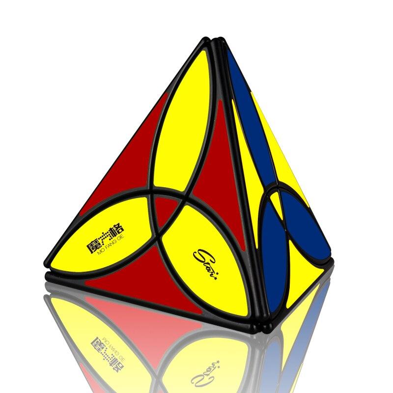 Mais novo qiyi trevo pirâmide velocidade magia-cubo profissional mofangge cubos de quebra-cabeça brinquedos educativos para crianças presente cubo magico