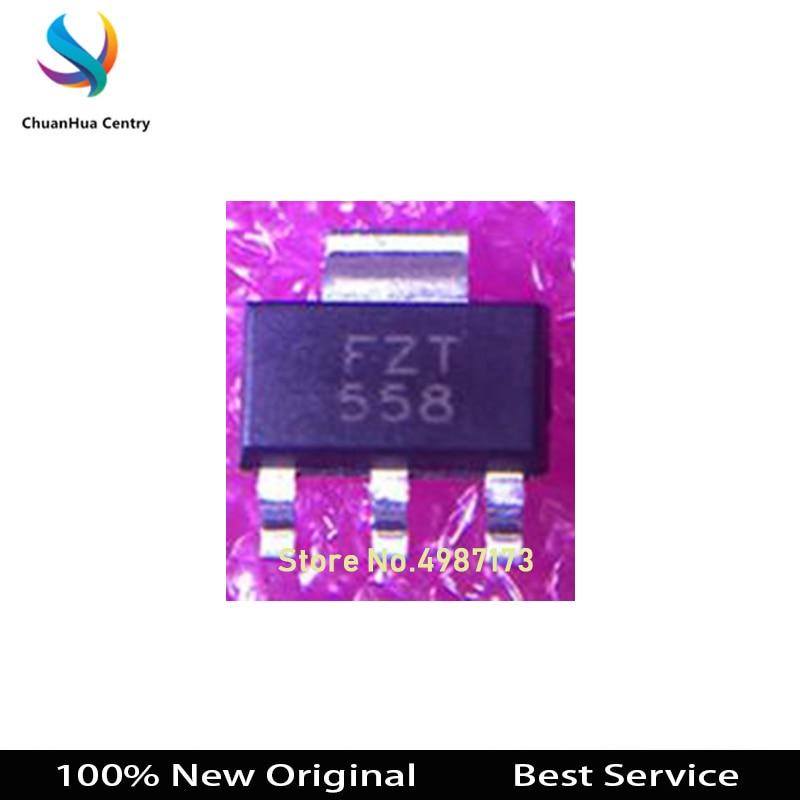 5 uds FZT558TA LM1117MPX-ADJ NO3A TLV1117-33IDCYR MIC37100-3.3WS SOT-223 100% nuevo Original en Stock