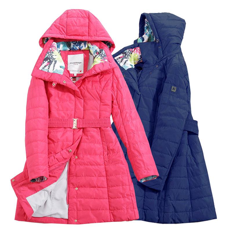 سترة forGirls 2021 أوروبا روسيا ربيع الخريف سميكة باركر معطف الأزرق الوردي معاطف مع هود height140-164CM 10A-14A S206