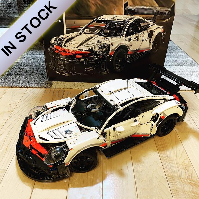 RSR en Stock deportes coche de carreras, modelo 23002, 23006, 20086, 17698, 21047, 93018 Compatible con 42056, 42083 de 20097 LZ2101 10265, 42110