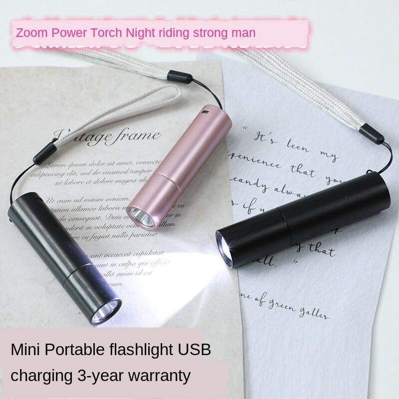 Супер яркий карманный фонарик USB мини фонарик аккумулятор светодиод многофункциональный зум сильный свет студент дом открытый
