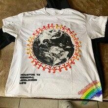 Impressão de espuma 3d travis scott cactus jack festival astroworld camiseta das mulheres dos homens 11 de alta qualidade t camisa do verão camiseta