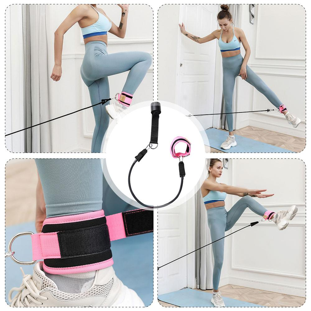 Yoga Resistance Bands Fitness Pull Rope On The Door Legs Buttocks Fitness Elastic Bands Ankle Straps Fitness Equipment