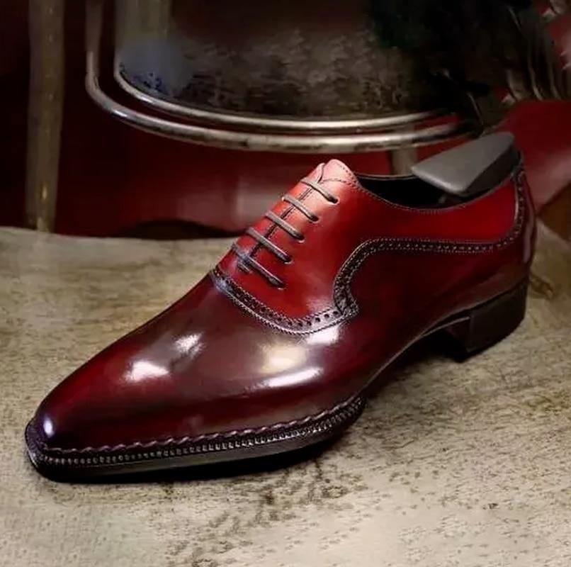 عالية الجودة أحدث موضة الرجال فستان أحذية الكلاسيكية براون بولي Leather الجلود قسط البروغ حذاء كاجوال Zapatos دي Hombre AG016