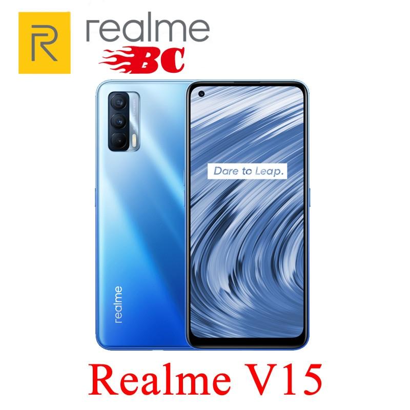 Перейти на Алиэкспресс и купить Оригинал Realme V15, 5G, смартфон 6,4 ''64MP тройные камеры 4310mAh 50W быстрая зарядка мобильный телефон Быстрая доставка