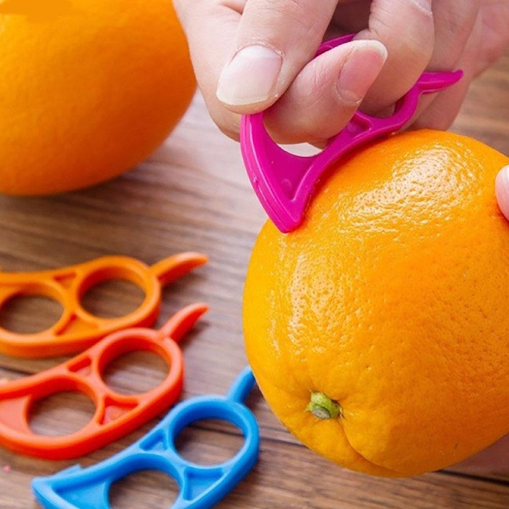 6 pièces citron agrumes éplucheur en plastique fruits Orange ouvert décapant éplucheur outil de cuisine facile à nettoyer belle forme bonbons couleur design.