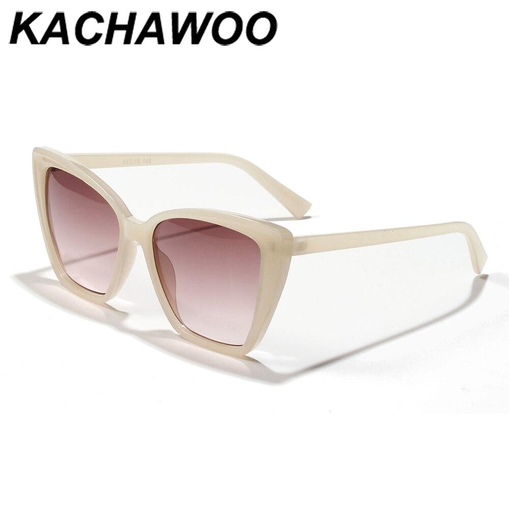 Kachawoo-lunettes de soleil rétro femmes   Œil de chat, écaille torique, beige, grand cadre, lunettes de soleil pour femmes, articles cadeaux danniversaire, mode uv400