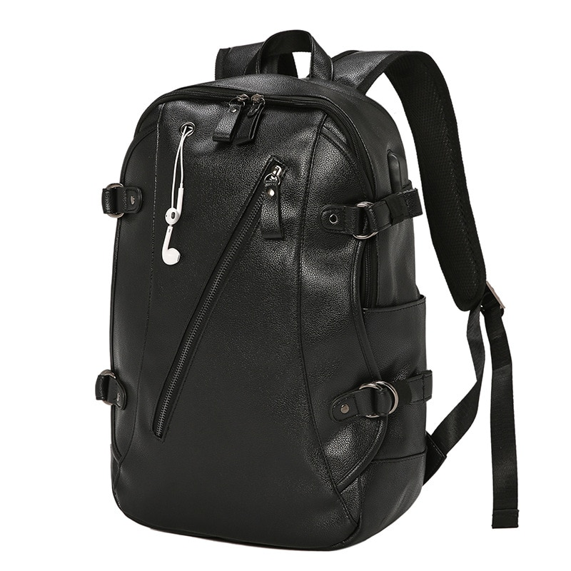 backpack men s korean wave casual backpack men s bags computer bags large and medium sized student bags fashion travel bags New Backpack Men's Backpack Student Bags Travel Backpack Leisure Bags Computer Bags Large Capacity