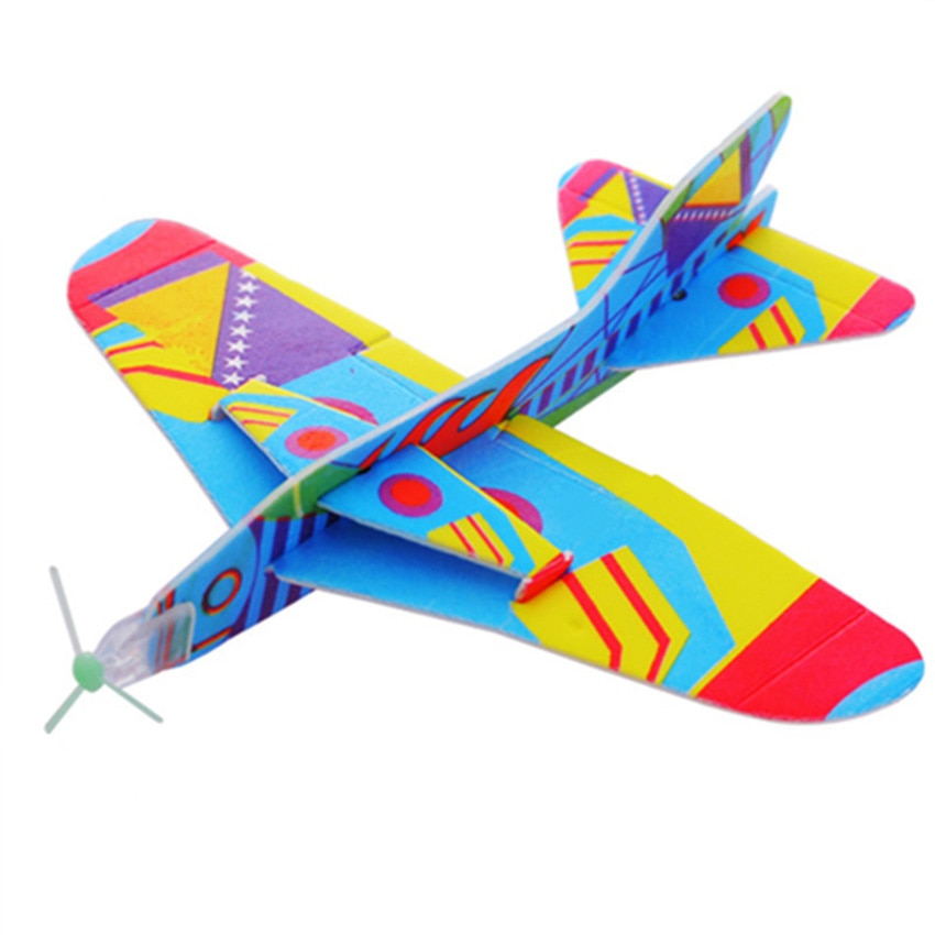 DIY Fly Back Hand Throw Aircraft Flying Glider Toy Planes Airplane Made Of Foam Plast Party Bag Fillers Children Kids Toys Game