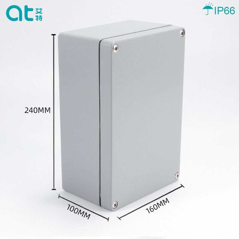 240*160*100 مللي متر IP66Electronic الضميمة البلاستيك وصلة من الألومنيوم صندوق معدني مخصص WaterproofBox لأسلاك قطاع دارة