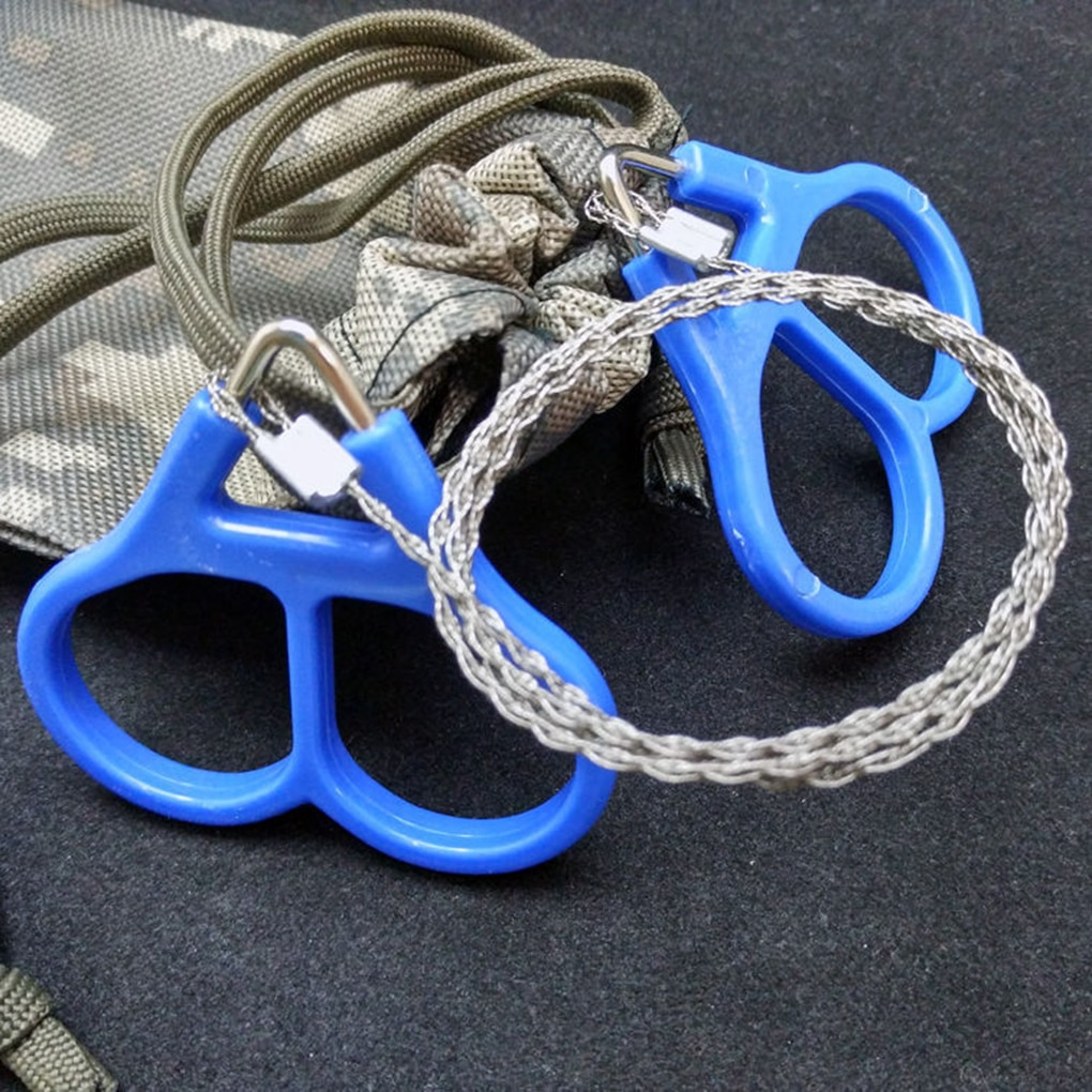 Emergency Gear Stainless Steel Wire Saws Outdoor Practical Camping Hiking Manual Hand Steel Rope Cha
