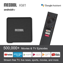 Mecool KM1 ATV Andriod 10 TV Box 4G 64G Amlogic S905X3 2.4G/5G Wifi Google certifié lecteur multimédia 4K BT4.2 commande vocale TVBox
