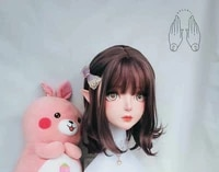 dollkii 17 female girl silica resin cosplay bjd cross dressing kigurumi head mask anime role play party crossdresser doll mask