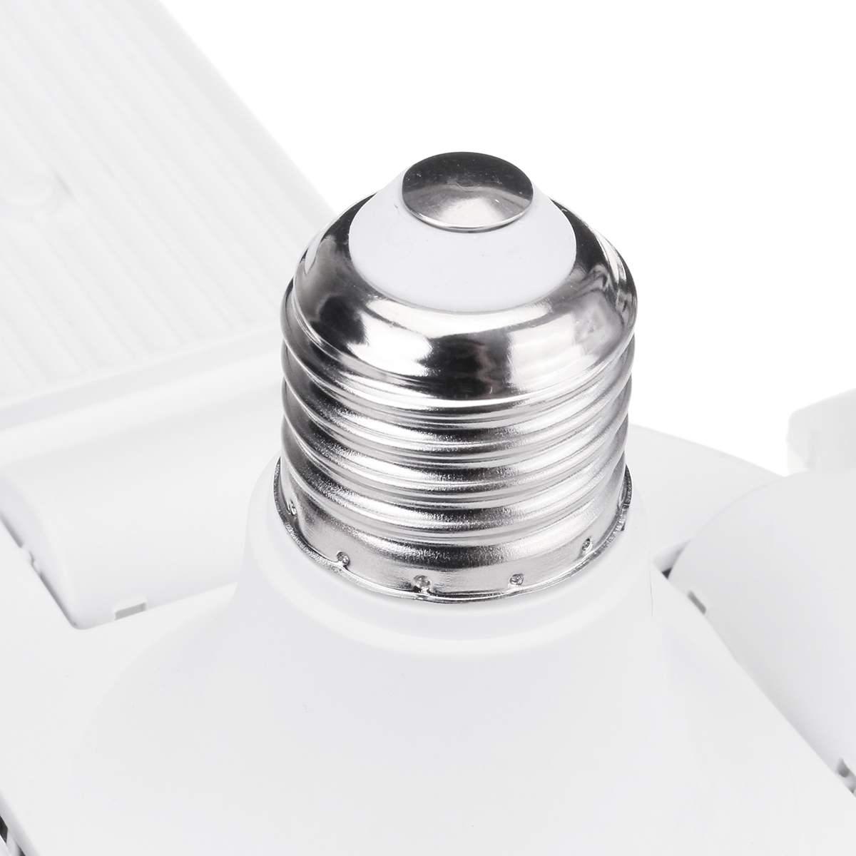 300W LED Garage Lights Foldable E27 Bulb 4 Adjustable Fan Blades Deformable Workshop Warehouse Ceiling Lighting 6500K AC110-265V enlarge