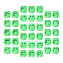 100 pièces Pigeon lettre pied anneaux oiseau Identification anneaux pied fournitures exquis orteil anneaux (vert 2020 amérique)