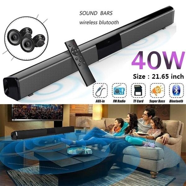 2019 New Wireless Bluetooth Soundbar Stereo Speaker Home Theater TV Sound Bar Subwoofer Music Player