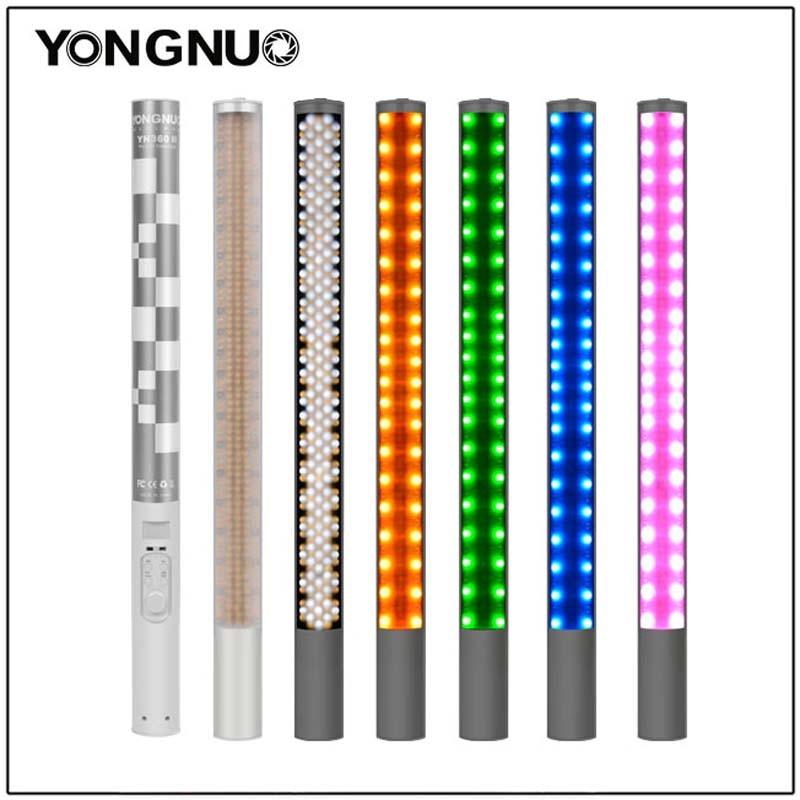 YONGNUO YN360II YN360 II 3200K-5500K للتغيير RBG الملونة المحمولة LED الفيديو الضوئي