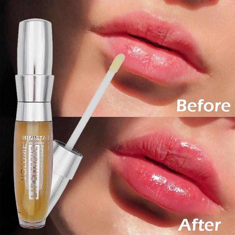 Moisturizing Lip Plumper Gloss Repairing Reduce Fine Lines Lip Care Oil Long Lasting 3D Sexy Lips Plumping Essence Cosmetics