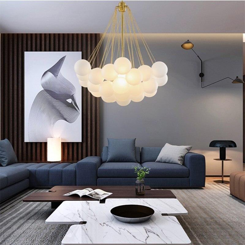 Artpad أوروبا الزجاج الثريا مطعم مقهى الديكور مصمم الإبداعية تعليق مصابيح E27 الأسود الذهب AC90-260V